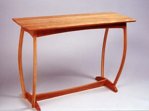 Cherry Bow-Legged Hall Table, Fall 2000